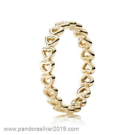 Pandora Store Specials Pandora Collections Linked Love Ring 14K Yellow Gold