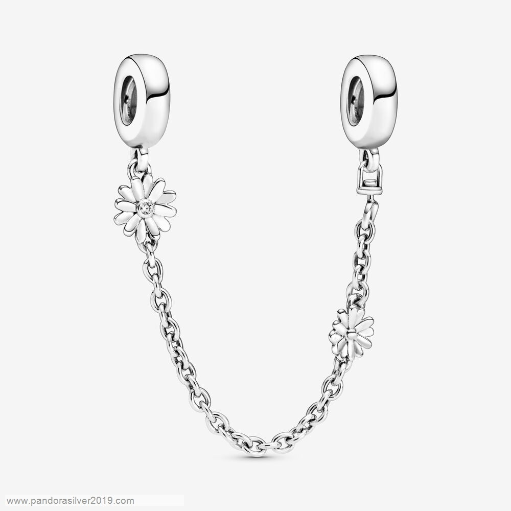Pandora Store Specials Daisy Flower Safety Chain Charm