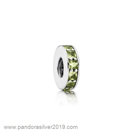 Pandora Store Specials Pandora Spacers Charms Eternity Spacer Olive Green Crystal