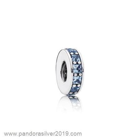 Pandora Store Specials Pandora Spacers Charms Eternity Spacer Sky Blue Crystal