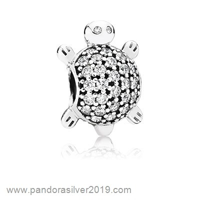 Pandora Store Specials Pandora Sparkling Paves Charms Sea Turtle Charm Clear Cz