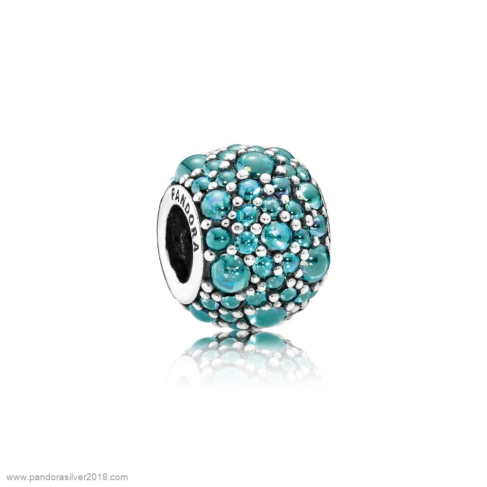 Pandora Store Specials Pandora Sparkling Paves Charms Shimmering Droplet Charm Teal Cz
