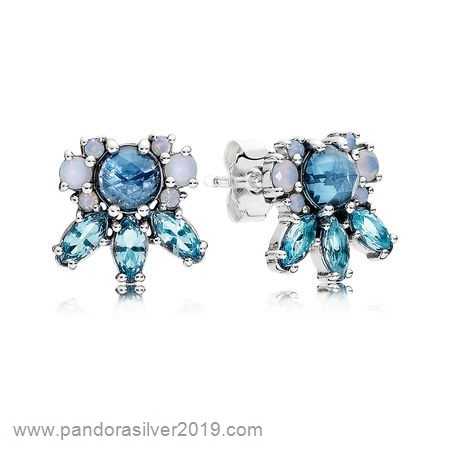 Pandora Store Specials Pandora Earrings Patterns Of Frost Stud Earrings Multi Colored Crystal